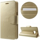 Mercury Sonata atverčiamas Samsung Galaxy Note 7 (N930) auksinis odinis dėklas - piniginė