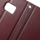 Mercury Sonata atverčiamas Samsung Galaxy Note 7 (N930) bordo odinis dėklas - piniginė