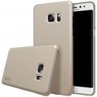 Nillkin Frosted Shield Samsung Galaxy Note 7 (N930) auksinis plastikinis dėklas + apsauginė ekrano plėvelė