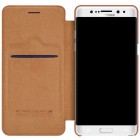 """Prabangus """"Nillkin"""" Qin serijos rudas odinis atverčiamas Samsung Galaxy Note 7 (N930) dėklas"""