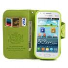 Samsung Galaxy S Duos S7562 MLT atverčiamas žalias odinis dėklas (dėkliukas) (Samsung Galaxy S Trend S7560 dėklas)