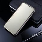 Samsung Galaxy S10e (G970) plastikinis atverčiamas auksinis dėklas