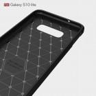 """Samsung Galaxy S10e (G970) """"Carbon"""" kieto silikono TPU juodas dėklas - nugarėlė"""
