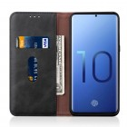"""""""Deluxe"""" atverčiamas juodas odinis Samsung Galaxy S10e (G970) dėklas - knygutė"""