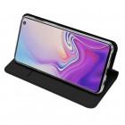 """""""Dux Ducis"""" Skin serijos Samsung Galaxy S10e (G970) juodas odinis atverčiamas dėkla"""