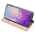 """""""Dux Ducis"""" Skin serijos Samsung Galaxy S10e (G970) rožinis odinis atverčiamas dėkla"""
