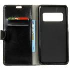 Samsung Galaxy S10e (G970) atverčiamas juodas odinis dėklas - piniginė
