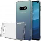 Samsung Galaxy S10e (G970) Nillkin Nature plonas skaidrus (permatomas) silikoninis TPU pilkas dėklas