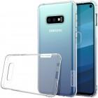 Samsung Galaxy S10e (G970) Nillkin Nature plonas skaidrus (permatomas) silikoninis TPU bespalvis dėklas