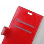 Samsung Galaxy S10e (G970) atverčiamas raudonas odinis dėklas - piniginė