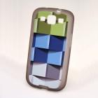 """""""Bullet"""" Samsung Galaxy S3 i9300 kieto silikono TPU dėklas - Cubes (kubai)"""