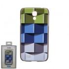 """""""Bullet"""" Samsung Galaxy S4 i9505, i9500 kieto silikono TPU dėklas - Cubes (kubai)"""