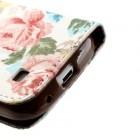 Atverčiamas Samsung Galaxy S4 Mini gėlėtas spalvotas dėklas (piniginė)