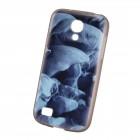 """Bullet"" Samsung Galaxy S4 mini i9195, i9190 kieto silikono TPU dėklas - Blue Smoke (mėlynas dūmas)"