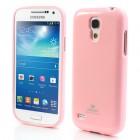 Mercury rožinis Samsung Galaxy S4 mini TPU kieto silikono dėklas (nugarėlė)