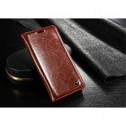 """Samsung Galaxy S6 Edge+ Plus (G928) """"CaseMe"""" solidus atverčiamas raudonas odinis dėklas - knygutė"""