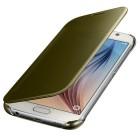Samsung Galaxy S6 (G920) originalus Clear View Cover atverčiamas auksinis dėklas