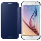 Samsung Galaxy S6 (G920) originalus Clear View Cover atverčiamas mėlynas dėklas