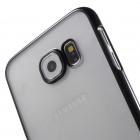 Samsung Galaxy S6 (G920) plastikinis skaidrus permatomas juodas dėklas