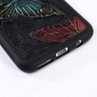 Samsung Galaxy S8 (G950) spalvotas kieto silikono TPU dėklas (nugarėlė) - Drugeliai