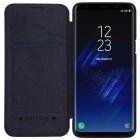 """Prabangus """"Nillkin"""" Qin serijos juodas odinis atverčiamas Samsung Galaxy S9 (G960)"""