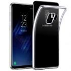 Samsung Galaxy S9 (G960) kieto silikono TPU skaidrus pilkas dėklas - nugarėlė