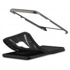 """""""Spigen"""" Neo Hybrid sustiprintos apsaugos Samsung Galaxy S9 (G960) juodas kieto silikono (TPU) ir plastiko dėklas"""