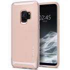 """""""Spigen"""" Neo Hybrid sustiprintos apsaugos Samsung Galaxy S9 (G960) rožinis kieto silikono (TPU) ir plastiko dėklas"""