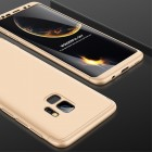 """""""Thin Fit 360"""" plastikinis Samsung Galaxy S9 (G960F) auksinis dėklas - nugarėlė aukso spalvos apvadais"""