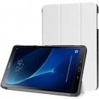 Samsung Galaxy Tab A 10.1 2016 (T580, T585) atverčiamas baltas odinis dėklas - knygutė