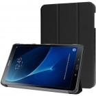 Samsung Galaxy Tab A 10.1 2016 (T580, T585) atverčiamas juodas odinis dėklas - knygutė