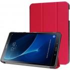 Samsung Galaxy Tab A 10.1 2016 (T580, T585) atverčiamas raudonas odinis dėklas - knygutė