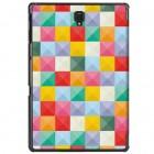Samsung Galaxy Tab A 10.5 2018 (T590, T595) Pattern atverčiamas spalvotas, baltas odinis dėklas - knygutė