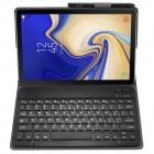 Samsung Galaxy Tab A 10.5 2018 (T590, T595) atverčiamas juodas odinis dėklas su bluetooth belaide klaviatūra