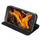 """""""Dux Ducis"""" Skin serijos Samsung Galaxy Xcover 4 / 4S (G390, G398) juodas odinis atverčiamas dėklas"""