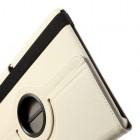Atverčiamas baltas Samsung Galaxy Note 10.1 2014 P600 (P605) dėklas (dėkliukas) - piniginė, sukiojamas 360°