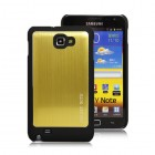 Šlifuoto metalo auksinis Samsung Galaxy Note i9220, N7000 dėklas (dėkliukas)