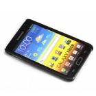 Samsung Galaxy Note i9220, N7000 juodas odinis dėklas (dėkliukas, nugarėlė)
