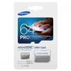 """""""Samsung"""" Pro MicroSD atminties kortelė 64 Gb, 10 Klasė su SD adapteriu"""