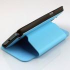 Samsung Galaxy Note 2 N7100 atverčiamas šviesiai mėlynas dėklas (dėkliukas) - stovas, knygutės tipo