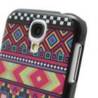 Raštuotas spalvotas Samsung Galaxy S4 plastikinis dėklas (dėkliukas, nugarėlė)
