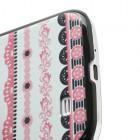 Raštuotas rožinis Samsung Galaxy S4 plastikinis dėklas (dėkliukas, nugarėlė)