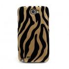 """""""Zebra Skin"""" juodas - auksinis Samsung Galaxy Note 2 dėklas"""