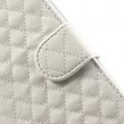 """""""Rhombus"""" atverčiamas odinis baltas Samsung Galaxy Note 3 dėklas"""