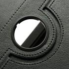 Atverčiamas juodas odinis Samsung Galaxy Note 8.0 N5100 (N5110) dėklas (dėkliukas), sukiojamas 360°