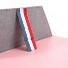 Universali rožinė odinė kompiuterinės planšetės įmautė, vokas, 8 colių planšetėms