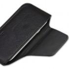 Juodos spalvos odinė Samsung Galaxy S3 įmautė - dėklas