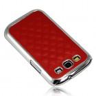 Stilingas raudonas odinis Samsung Galaxy S3 i9300 dėklas (dėkliukas, nugarėlė)