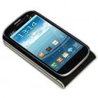 Samsung Galaxy S3 i9300 atverčiamas baltas odinis dėklas (dėkliukas)