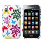 Silikoninis baltas spalvotas Samsung Galaxy S i9000 dėklas (dėkliukas)